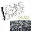 ミッキーマウス デッサン柄 長財布 かぶせタイプ D1033 ディズニー 白黒 モノクロ 日本製【ネコポス届け】