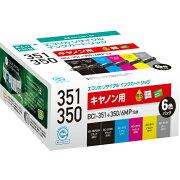 BCI-351+350/6MP �ߴ��ꥵ�����륤�����ȥ�å� 6���ѥå� ECI-C351-6P