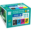 LC111-4PK�ߴ��������ȥ�å� 4���ѥå� ECI-BR111-4P �����ꥫ