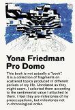 【】Pro Domo [ Yona Friedman ]