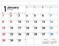 2017年 書き込み式シンプルカレンダー[リングレスタイプ/B4ヨコ]