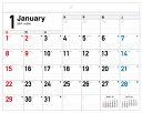 書き込み式シンプルカレンダー(リングレスタイプ/B4ヨコ)(2017) ([カレンダー])