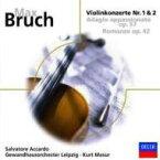 【輸入盤】 ヴァイオリン協奏曲第1番、第2番、他 アッカルド(ヴァイオリン)マズア&ゲヴァントハウス管弦楽団 [ ブルッフ (1838-1920) ]