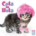 Cats in Hats 2018 Mini Wall Calendar CAL 2018-CATS IN HATS [ Sellers Publishing Inc ]
