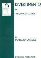 【輸入楽譜】アーノルド, Malcolm: 木管三重奏のためのディヴェルティメント Op.37: パート譜