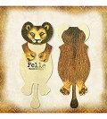 Pelle立体アニマルブックマーカー ライオン