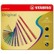 STABILO 硬質水彩色鉛筆 Original 24色セット