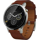 ��ȥ?�� ���ޡ��ȥ����å� Moto 360 (2nd Gen) Mens 46mm�� ����С�/���˥�å��쥶�� ( 512MB / 4GB / �ɿ� ) ��