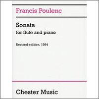 【輸入楽譜】プーランク, Francis: フルート・ソナタ