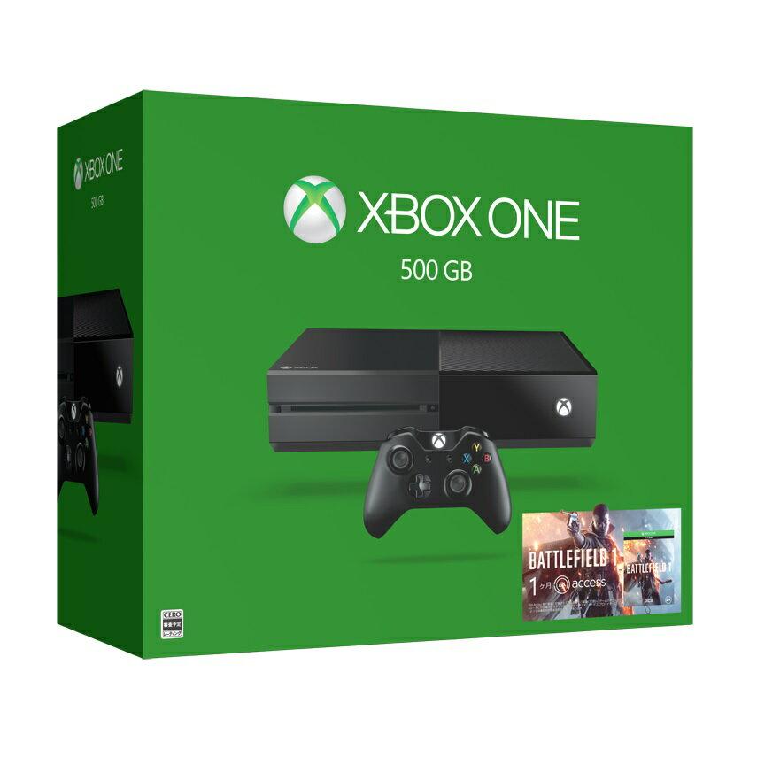 【予約】XboxOne 500GB (バトルフィールド1 同梱版)