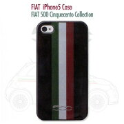 FIAT 500 Cinquecento Collection - Tricolore Hard Shell Case Black for iPhone5