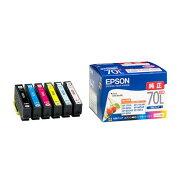【2箱セット】 エプソン IC6CL70L カラリオプリンター用インクカートリッジ(増量6色パック)