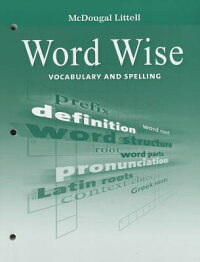 McDougalLittellLiterature:WordWiseStudent'sEditionvocabularyandSpellingGrade8