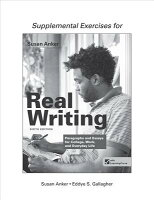 Real Essays With Readings Writing Projects for College, Work ...