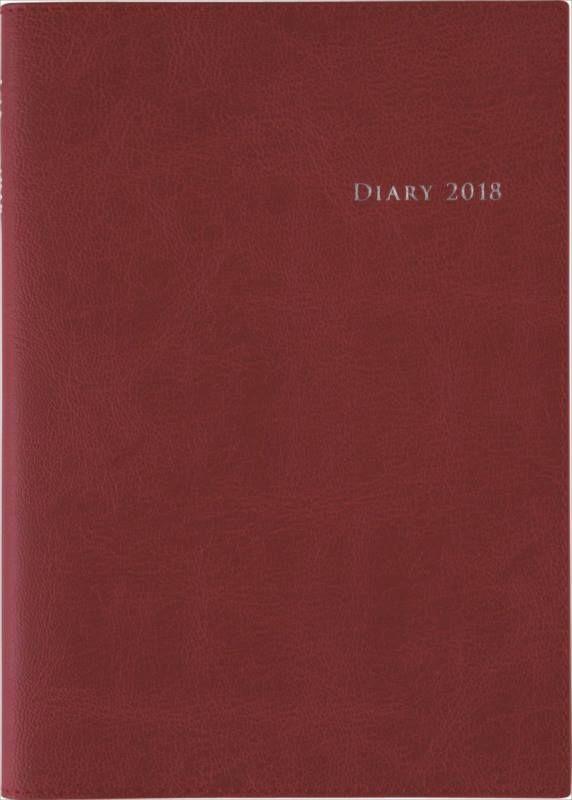2018年版 No.432 デスクダイアリー カジュアル 2 レッド 1月はじまり