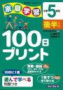 【バーゲン本】【送料無料】家庭学習100日プリント(小学5年生 後半)【バーゲンブッ