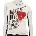 【Tシャツ】 BACKSTREETBOYS / Heart Drip (Lady's S)_ts販