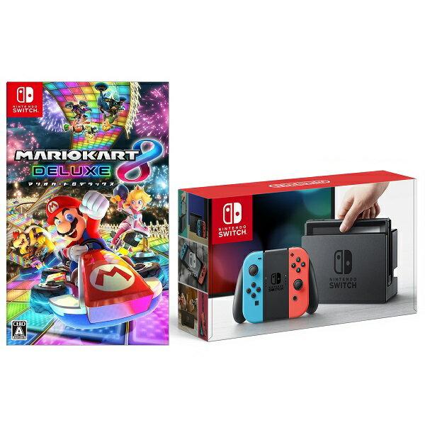 【予約】Nintendo Switch Joy-Con(L) ネオンブルー/(R) ネオンレッド + マリオカート8 デラックス