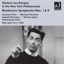 交響曲 - 【輸入盤】交響曲第9番『合唱』、第1番(ニューヨーク・フィル、1958)、第5番『運命』(ウィーン・フィル、1948) カラヤン(2CD) [ ベートーヴェン(1770-1827) ]