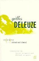 Deleuze essays critical clinical