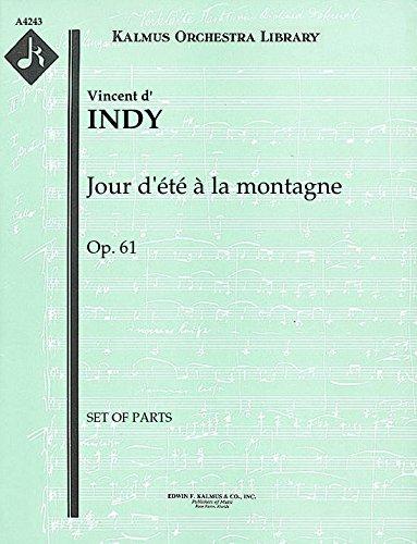 【輸入楽譜】ダンディ, Vincent: 交響詩「山の夏の日」 Op.61: パート譜セット [ ダンディ, Vincent ]