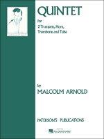 【輸入楽譜】アーノルド, Malcolm: 金管五重奏曲 Op.73: パート譜セット