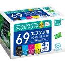 IC4CL69 互換リサイクルインクカートリッジ 4色パック...