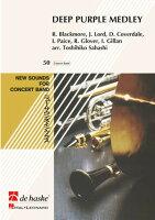 【輸入楽譜】ディープ・パープル: ディープ・パープル・メドレー/佐橋俊彦編曲: スコアとパート譜セット