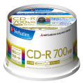 CD-R 700MB 50枚スピンドル 白ワイド SR80FP50V4