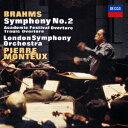 ブラームス:交響曲第2番 悲劇的序曲/大学祝典序曲 [ ピエール・モントゥー ]