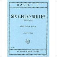 【輸入楽譜】バッハ, Johann Sebastian: 無伴奏チェロ組曲 BWV 1007-1012/無伴奏ビオラ用編曲