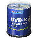 DVD-R(Data) 1回記録用 4.7GB 1-16倍速 100枚スピンドルケース100P IJP対応