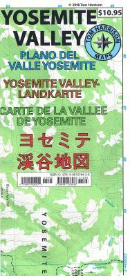 Yosemite Valley Map: Plano del Valle Yosemite- Yosemite Valley-Landkarte- Carte de La Vallee de Yose MAP-YOSEMITE VALLEY MAP (Tom Harrison Maps) [ Tom Harrison ]