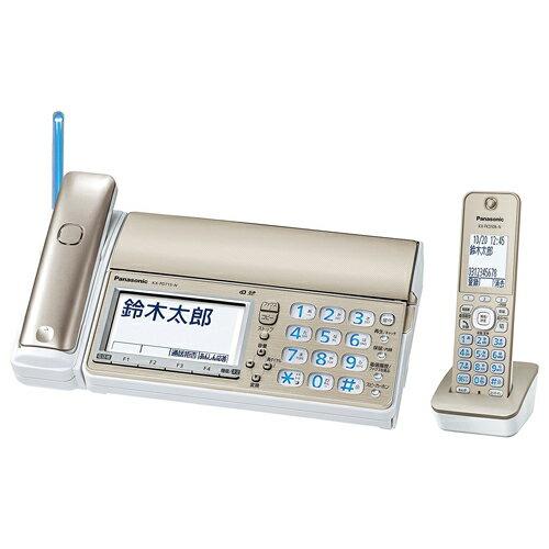 Panasonic デジタルコードレス普通紙ファクス(子機1台付き)(シャンパンゴールド)KX-PD715DL-N