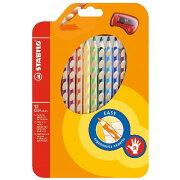 STABILO 水彩色鉛筆 EASY color 右手用 12色セット