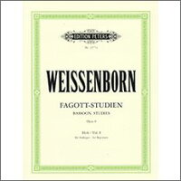 【輸入楽譜】ワイセンボーン, Julius: バスーン上級練習曲 Op.8 第1巻