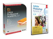 【楽天限定】Photoshop Elements 10 日本語版 MLP +Office Professional 2010 アカデミック セット
