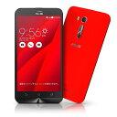 ZenFone GO レッド ZB551KL (SIMフリー/Android5.1.1 /5.5inch /デュアルmicroSIM /LTE)(2GB/16GB)