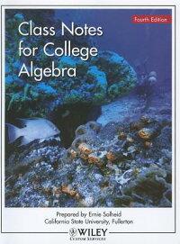 ClassNotesforCollegeAlgebra