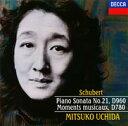 DECCA Best 100 62::シューベルト:ピアノ・ソナタ第21番 楽興の時(全6曲) [ 内田光子 ]