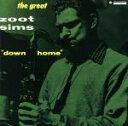 Jazz - 【中古】 ダウン・ホーム+6 /ズート・シムズ(ts),デイヴ・マッケンナ(p),ジョージ・タッカー(b),ダニー・リッチモンド(ds) 【中古】afb