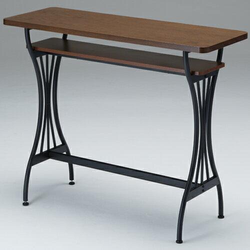 送料無料 木製カウンターテーブル ブルーノ 幅110cm ブラウン at-114ct