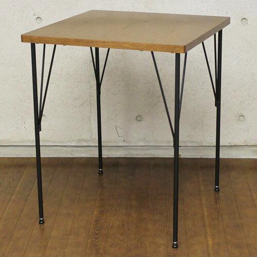 送料無料 カフェダイニングテーブル ブルーノ 幅60cm ブラウン at-6060