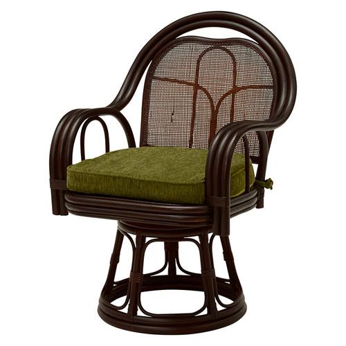 送料無料 籐回転座椅子 ハイタイプ 2脚組 RZ-523DBR★ hg-rz-523dbr 籐回転座椅子 ハイタイプ 2脚組 RZ-523DBRあたらしい