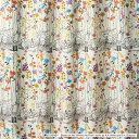 楽天本棚専門店ディズニー Winnie the Pooh ウィニー・ザ・プー Garden place ガーデンプレイス ドレープカーテン 100×135cm ピンク M-1106-P