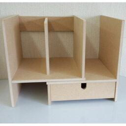 送料無料 日本製 スライドブックスタンド B-2 引出し付き ラック デスクラック 卓上ラック 小物整理 カウンター上ラック キッチン デスク上 卓上 小物整理 本立て ブックスタンド コンパクト 省スペース ミニサイズ マルチラック テーブル上 本棚 書棚 マガジンラック m-b2