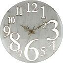 壁掛け時計 レトロ ホワイト b-56920