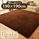 送料無料 マイクロファイバーラグ fiesta フィエスタ 厚さ10mm タイプ190×190cm マイクロファイバー ラグ マット ラグマット カーペット ホットカーペット対応 床暖房対応 絨毯 じゅうたん リビング ホットカーペットカバー 滑り止め付き 床の傷防止 プレイマット 040702768