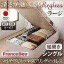 送料無料 日本製 開梱設置 ガス圧 跳ね上げベッド リグレス ラージ シングル 【縦開き