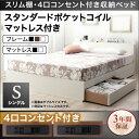 送料無料 収納付きベッド シングルベッド シングルサイズ Dublin ダブリン スタンダードポ
